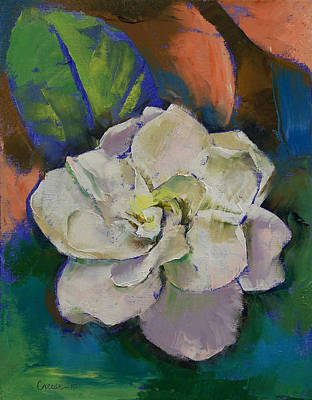Florida Flowers Painting - Gardenia by Michael Creese