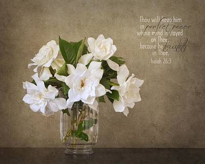 Photograph - Gardenias I by Mary Hershberger