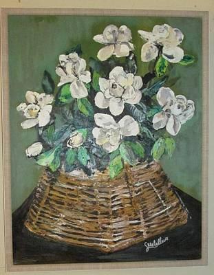 Gardenias In A Basket Original