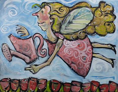 Painting - Gardening Angel by Tim Nyberg