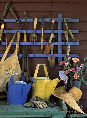 Photograph - Gardening Tools - Fm000055 by Daniel Dempster