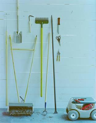 Cod Photograph - Gardening Tools by Romulo Yanes