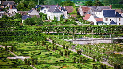 Repetition Photograph - Gardens And Village, Chateau De by Russ Bishop