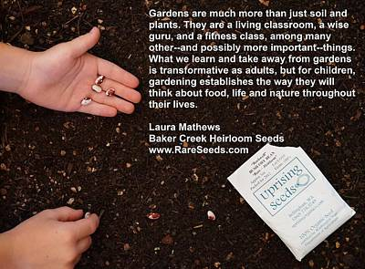 Gardens Are Much More Art Print by Jon Simmons