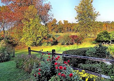 Photograph - Gardens At Maple Hill Farm by Janice Drew