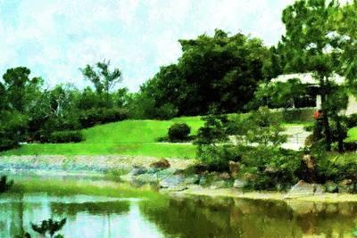 Mixed Media - Gardens At Morikami by Florene Welebny