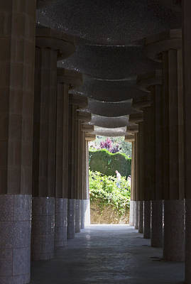Photograph - Gardens Beyond The Columns by Lorraine Devon Wilke