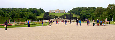 Photograph - Gardens Of Schonbrunn  In Vienna by Caroline Stella