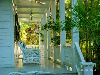 Painting - Gardens Porch In Key West by David  Van Hulst