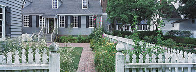 Colonial Architecture Photograph - Gardens Williamsburg Va by Panoramic Images