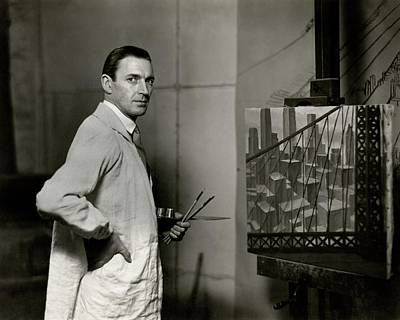 Artist Photograph - Gardner Hale In Front Of A Painting by Paul Hansen