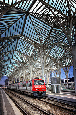 Gare Do Oriente Lisbon Art Print by Carol Japp
