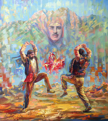 Painting - Garegin Nzhdeh And Yarkhushta by Meruzhan Khachatryan