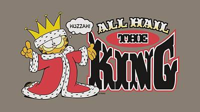 Lazy Digital Art - Garfield - All Hail The King by Brand A