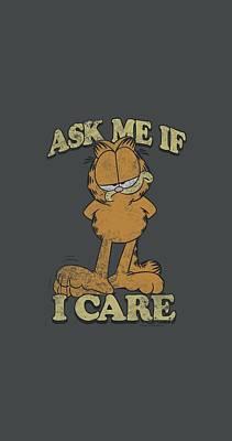 Lazy Digital Art - Garfield - Ask Me by Brand A