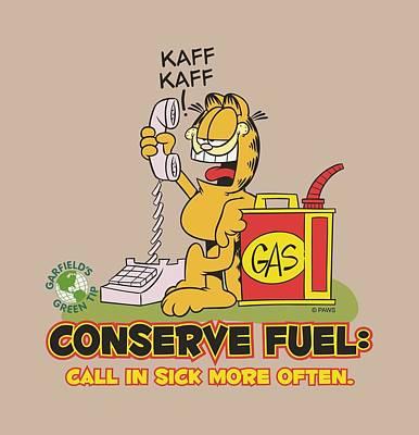Lazy Digital Art - Garfield - Call In Sick by Brand A