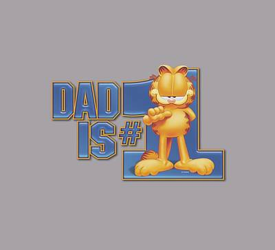 Lazy Digital Art - Garfield - Dad Is Number One by Brand A