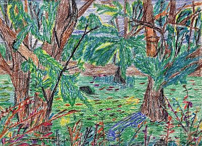 Indiana Landscapes Drawing - Garfield Garden by Michael Anthony Edwards