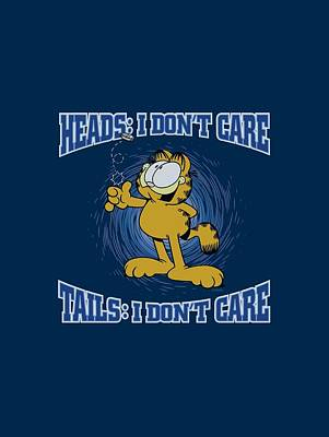 Lazy Digital Art - Garfield - Heads Or Tails by Brand A