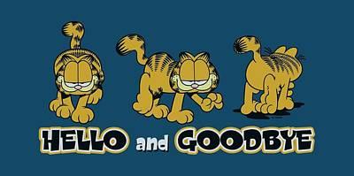 Lazy Digital Art - Garfield - Hello And Goodbye by Brand A