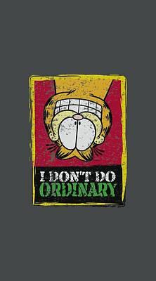 Lazy Digital Art - Garfield - I Don't Do Ordinary by Brand A