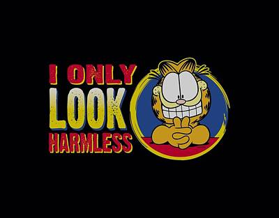 Lazy Digital Art - Garfield - I Only Look Harmless by Brand A