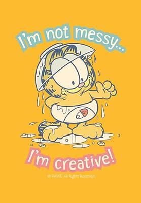 Lazy Digital Art - Garfield - I'm Creative by Brand A