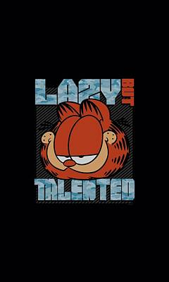 Lazy Digital Art - Garfield - Lazy But Talented by Brand A