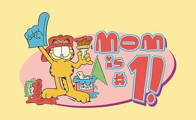 Lazy Digital Art - Garfield - Mom Number One by Brand A