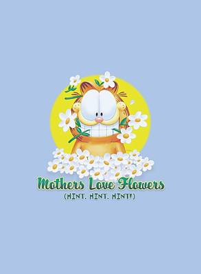 Lazy Digital Art - Garfield - Mother's Love Flowers by Brand A