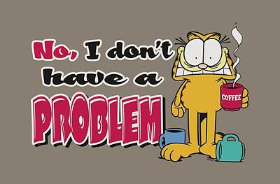 Lazy Digital Art - Garfield - No Problem by Brand A