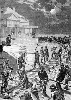 Garfield Railroad Construction, 1881 Art Print