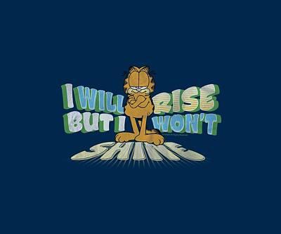 Lazy Digital Art - Garfield - Rise Not Shine by Brand A