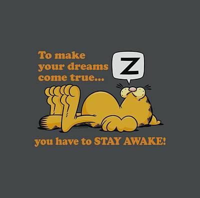 Lazy Digital Art - Garfield - Stay Awake by Brand A