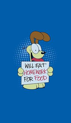 Lazy Digital Art - Garfield - Will Eat Homework by Brand A