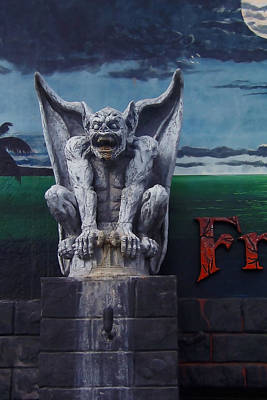 Haunted House Photograph - Gargoyle by Art Block Collections