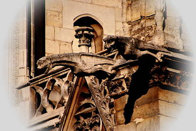 Photograph - Gargoyle At Notre Dame by Jacqueline M Lewis