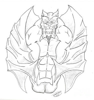 Gargoyle Drawing - Gargoyle By Ray by Minding My  Visions by Adri and Ray