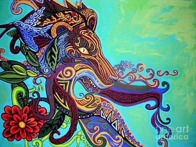 Fanciful Painting - Gargoyle Lion 3 by Genevieve Esson
