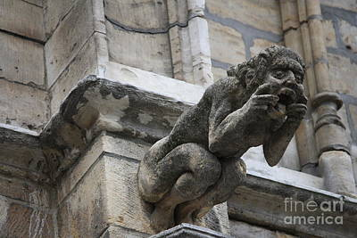 Photograph - Belgian Gargoyle  by Mary-Lee Sanders