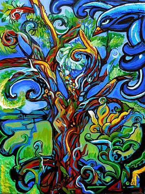 Painting - Gargoyle Tree With Crow by Genevieve Esson