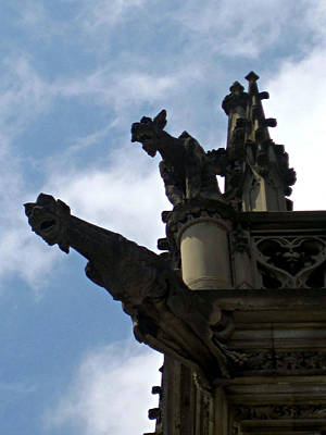 Photograph - Gargoyles At Biltmore House by Amber Summerow