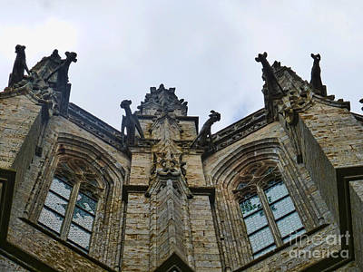 Photograph - Gargoyles At The Mont by Crystal Nederman