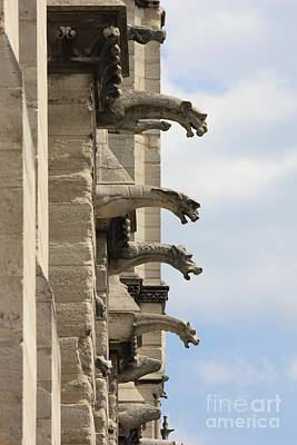 Photograph - Gargoyles Of Notre Dame by Carol Groenen