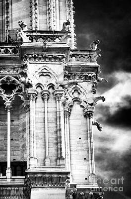 Photograph - Gargoyles On Notre Dame by John Rizzuto