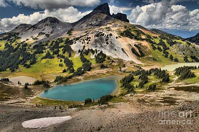 Photograph - Garibaldi Black Tusk Lake And Glacier by Adam Jewell
