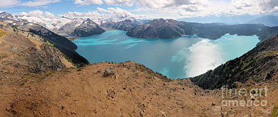 Photograph - Garibaldi Lake And Mountain Panorama by Adam Jewell