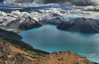 Photograph - Garibaldi Lake Clouds And Glaciers by Adam Jewell