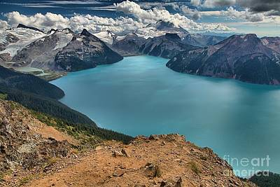 Photograph - Garibaldi Mountains Cliffs And Glaciers by Adam Jewell