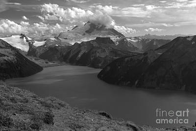 Photograph - Garibaldi Panorama Overlook In Black And White by Adam Jewell